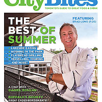 Chef Brad Long on Cover for CityBites Magazine Summer 2011