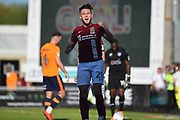 Northampton Town midfielder (on loan from Swansea) Matt Grimes (29) scores a goal and celebrates 1-1 during the EFL Sky Bet League 1 match between Northampton Town and Oldham Athletic at Sixfields Stadium, Northampton, England on 5 May 2018. Picture by Dennis Goodwin.