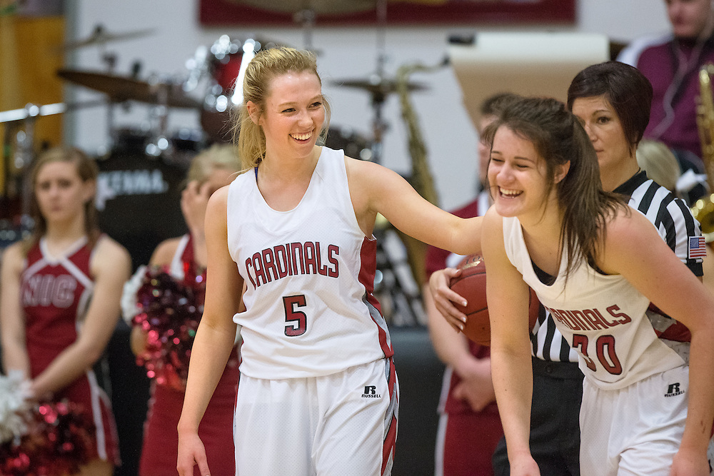 GABE GREEN/Press<br /> <br /> NIC sophomore guard Giorgia Stirton, of Melbourne, Australia, and forward Renae Mokrzycki, a fellow Australian, laugh after Mokrzycki was injured by a Snow college player during Saturday&rsquo;s game.