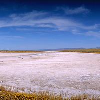 Panorama of Soda Lake on the Carrizo Plain