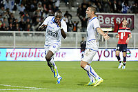 FOOTBALL - FRENCH CHAMPIONSHIP 2011/2012 - L1 - AJ AUXERRE v LILLE OSC  - 15/10/2011 - PHOTO JEAN MARIE HERVIO / DPPI - JOY DENNIS OLIECH (AJA) AFTER HIS GOAL