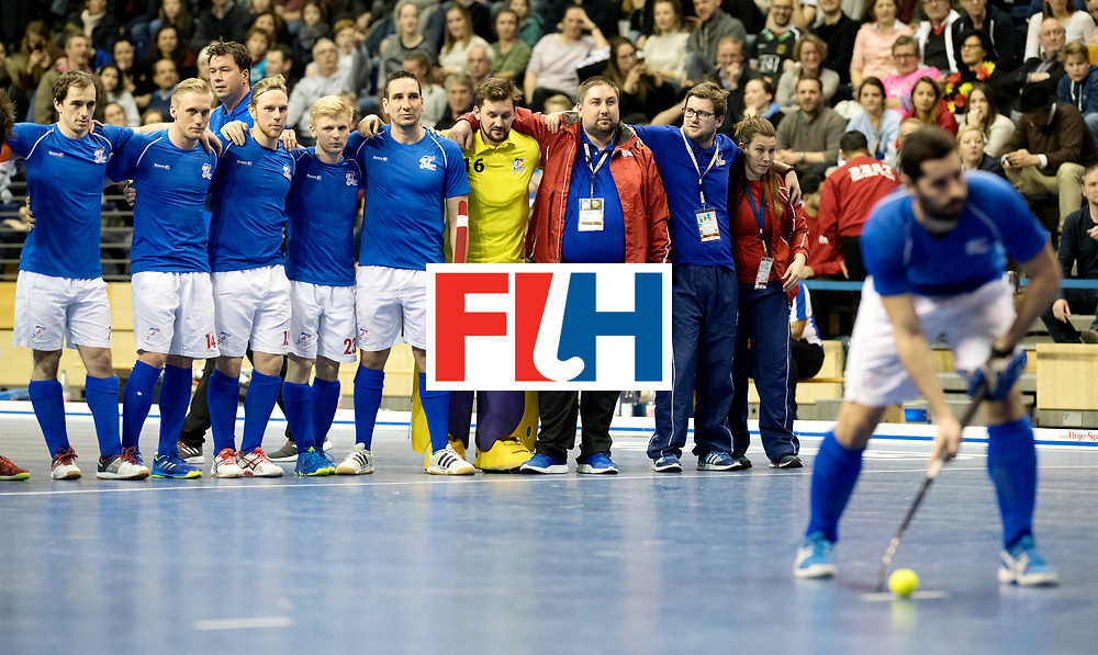BERLIN - Indoor Hockey World Cup<br /> Quarterfinal 1: Iran - Czech Republic<br /> foto: Czech Republic.<br /> WORLDSPORTPICS COPYRIGHT FRANK UIJLENBROEK