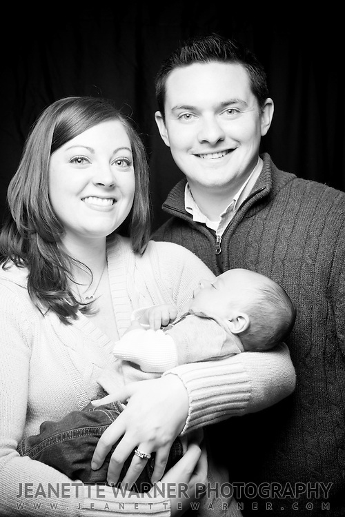 Angie, Mike, and baby Brennan.  Brennan is 3.5 months old.
