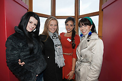 Miss Macedonia Vasha Jakimuska, Miss Belarus Anastasia Kharlanva, Miss Mexico gabriella Palacio and Miss Panama Irene Nunez..The Miss World participants visit Edinburgh Castle and will witness the firing of the One O'clock gun..MISS WORLD 2011 VISITS SCOTLAND..Pic © Michael Schofield.