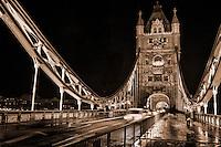 Tower Bridge @ Night (sepia)