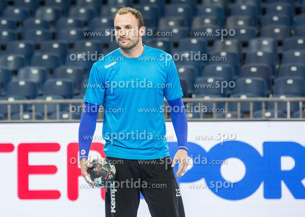 Uros Zorman of Slovenia during practice session of Team Slovenia on Day 1 of Men's EHF EURO 2016, on January 15, 2016 in Centennial Hall, Wroclaw, Poland. Photo by Vid Ponikvar / Sportida