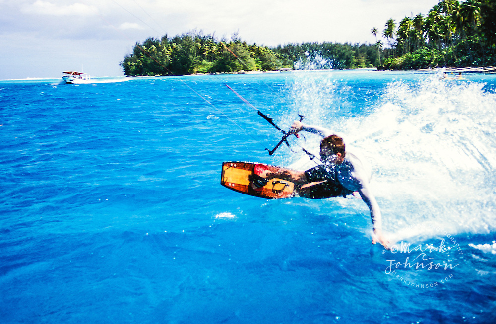 Kitesurfing in Moorea, French Polynesia<br /> <br /> ***Model Release Available