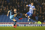 Sheffield Wednesday's Sam Hutchinson shoots during the Sky Bet Championship match between Brighton and Hove Albion and Sheffield Wednesday at the American Express Community Stadium, Brighton and Hove, England on 8 March 2016. Photo by Phil Duncan.