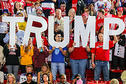 November 7, 2016 - Raleigh, North Carolina, U.S - Donald Trump Supporters at the Donald Trump rally in NC.  Republican Presidential Candidate Donald J Trump holds a campaign rally at Dorton Arena in Raleigh, North Carolina. (Credit Image: © Andy Martin Jr. via ZUMA Wire)