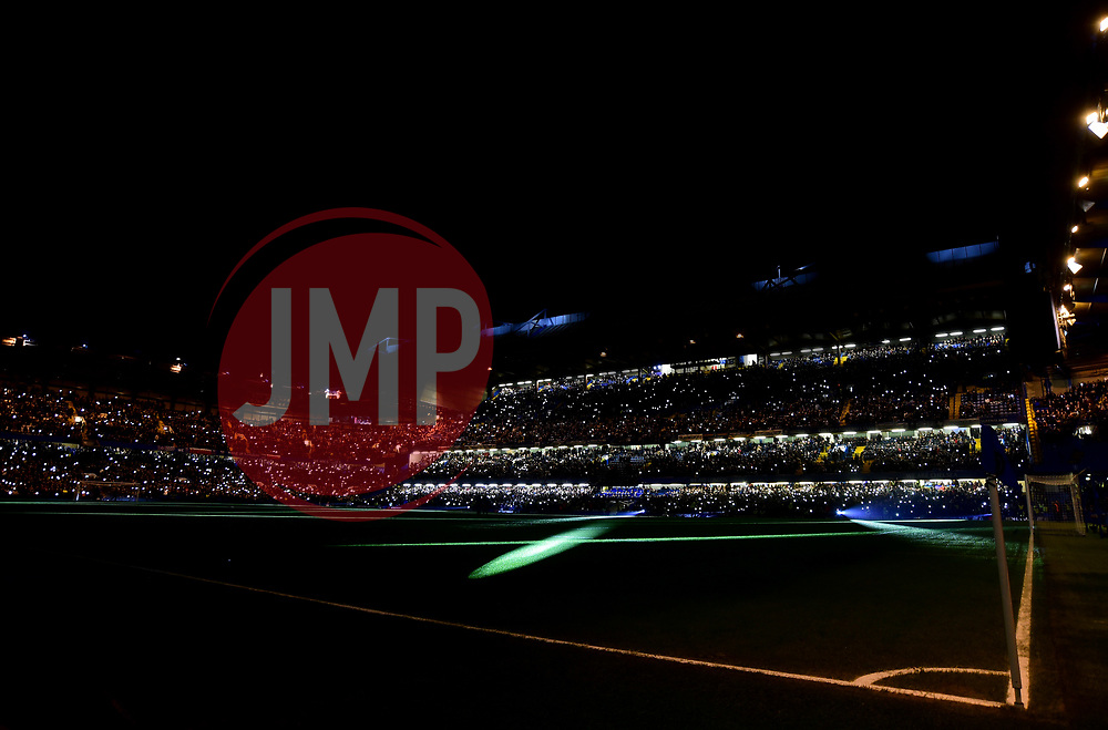 Pre lights show inside the Stamford Bridge stadium. - Mandatory by-line: Alex James/JMP - 10/01/2018 - FOOTBALL - Stamford Bridge - London, England - Chelsea v Arsenal - Carabao Cup semi-final first leg