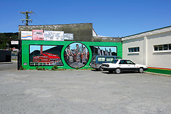 NEW ZEALAND SOUTHLAND BLUFF 22DEC07 - Murals on display in Bluff, New Zealand's most southerly town. Bluff is the oldest European town in New Zealand, being permanently settled since 1824...jre/Photo by Jiri Rezac..© Jiri Rezac 2007..Contact: +44 (0) 7050 110 417.Mobile:  +44 (0) 7801 337 683.Office:  +44 (0) 20 8968 9635..Email:   jiri@jirirezac.com.Web:    www.jirirezac.com..© All images Jiri Rezac 2007 - All rights reserved.