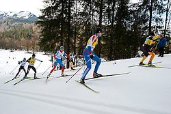 LYSOVA Mikhalina Guide: IVANOV Alexey, RUS, REMIZOVA Elena Guide: YAKIMOVA Natalia, HOSCH Vivian Guide: SCHLEE Norman, GER at the 2014 IPC Nordic Skiing World Cup Finals - Sprint
