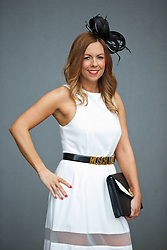 LIVERPOOL, ENGLAND - Friday, April 4, 2014: Jill Miller from Edinburgh during Ladies' Day on Day Two of the Aintree Grand National Festival at Aintree Racecourse. (Pic by David Rawcliffe/Propaganda)