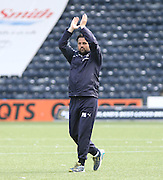 Dundee manager Paul Hartley applauds the 1200 plus travelling support at full time - Kilmarnock v Dundee - Ladbrokes Scottish Premiership at Rugby Park<br /> <br />  - &copy; David Young - www.davidyoungphoto.co.uk - email: davidyoungphoto@gmail.com
