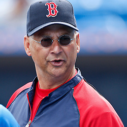 March 6, 2011; Port St. Lucie, FL, USA; Boston Red Sox manager Terry Francona (47) before a spring training exhibition game against the New York Mets at Digital Domain Park.  Mandatory Credit: Derick E. Hingle