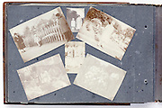 photo album page with fading images from early 1900s