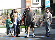 23.APRIL.2011. LOS ANGELES<br /> <br /> KELSEY GRAMMER AND HIS NEW WIFE KAYTE WALSH EATING LUNCH AT CASA ESCABAR RESTAURANT IN WESTLAKE VILLAGE JUST OUTSIDE LOS ANGELES WITH KELSEY'S KIDS AND SOME FRIENDS. THEY WERE LAUGHING AND KISSING AT THE LUNCH TABLE WHILE THE KIDS PLAYED OUTSIDE. THE HAPPY COUPLE HAD LUNCH FOR 2 HOURS AND THEN LEFT SMILING AND KELSEY GAVE KAYTE A BIG KISS AS THEY GOT IN THE CAR WHILE KAYTE PINCHED KELSEY'S BUM.<br /> <br /> BYLINE: EDBIMAGEARCHIVE.COM<br /> <br /> *THIS IMAGE IS STRICTLY FOR UK NEWSPAPERS AND MAGAZINES ONLY*<br /> *FOR WORLD WIDE SALES AND WEB USE PLEASE CONTACT EDBIMAGEARCHIVE - 0208 954 5968*