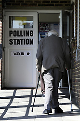 © Licensed to London News Pictures. 02/05/2013.Local county council Elections polling day today (02.05.2013)  voting at a polling station in Crockenhill Hill, Kent..Photo credit :Grant Falvey/LNP