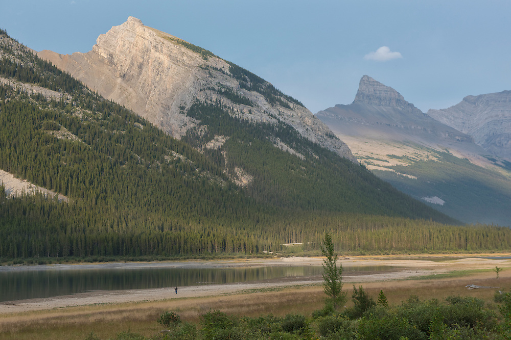 Canada, Alberta,Canmore,Spray Valley Provincal Park, Kananaskis Country,reservoir and mountain peaks