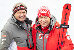 17.02.2019, Aare, SWE, FIS Weltmeisterschaften Ski Alpin, Slalom, Herren, 2. Lauf, im Bild v.l. Hans Pum (ÖSV Sportdirektor), Prof. Peter Schröcksnadel (ÖSV Präsident) // f.l. Hans Pum Austrian Ski Association sporting director Peter Schroecksnadel Austrian Ski Association President during the men's Slalom of FIS Ski World Championships 2019. Aare, Sweden on 2019/02/17. EXPA Pictures © 2019, PhotoCredit: EXPA/ Johann Groder
