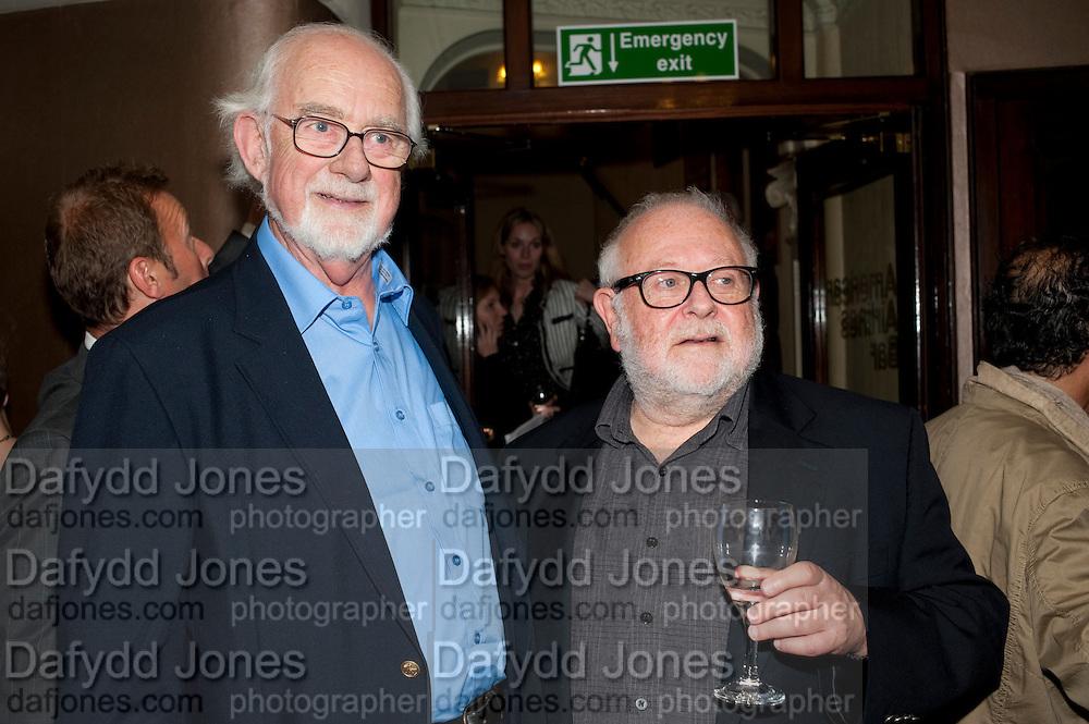 ANTONY JAY; JONATHON LYNN, Yes, Prime Minister Press night re-opening at Apollo Theatre, Shaftesbury Avenue London<br /> <br />  , -DO NOT ARCHIVE-© Copyright Photograph by Dafydd Jones. 248 Clapham Rd. London SW9 0PZ. Tel 0207 820 0771. www.dafjones.com.