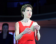 Pedro Almodovar's<br /> Women on the Verge of a nervous breakdown The Musical <br /> at the Playhouse Theatre, London, Great Britain <br /> press photocall<br /> 23rd December 2014 <br /> <br /> Tamsin Greig as Pepa <br /> <br /> Photograph by Elliott Franks <br /> Image licensed to Elliott Franks Photography Services