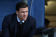 Wigan Athletic manager Gary Caldwell before the EFL Cup match between Oldham Athletic and Wigan Athletic at Boundary Park, Oldham, England on 9 August 2016. Photo by Simon Brady.