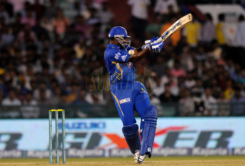 Kieron Pollard captain of Mumbai Indians  bats during the qualifier 5 match of the Oppo Champions League Twenty20 between the Southern Express and the Lahore Lions held at the Chhattisgarh International Cricket Stadium, Raipur, India on the 16th September 2014<br /> <br /> Photo by:  Pal Pillai / Sportzpics/ CLT20<br /> <br /> <br /> Image use is subject to the terms and conditions as laid out by the BCCI/ CLT20.  The terms and conditions can be downloaded here:<br /> <br /> http://sportzpics.photoshelter.com/gallery/CLT20-Image-Terms-and-Conditions-2014/G0000IfNJn535VPU/C0000QhhKadWcjYs