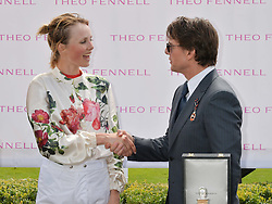 EDIE CAMPBELL and TOM CRUISE at the 2014 Glorious Goodwood Racing Festival at Goodwood racecourse, West Sussex on 31st July 2014.