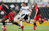 Photo: Rich Eaton.<br /> <br /> Derby County v Southampton. Coca Cola Championship.<br /> <br /> 06/08/2006. Tommy Smith of Derby cuts through the Southampton defence