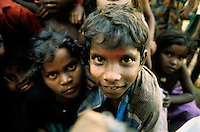 Kenyakumary, India 1994. Portait of children in the southern point of the Sub-Continent