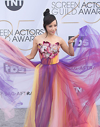 January 27, 2019 - Los Angeles, California, U.S - Fiona Xie on the red carpet of the 25th Annual Screen Actors Guild Awards held at the Shrine Auditorium in Los Angeles. (Credit Image: © Prensa Internacional via ZUMA Wire)