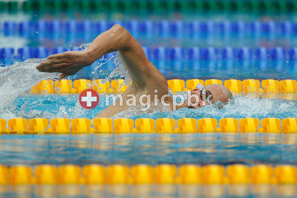 Laszlo CSEH of Hungary swims on the crawl leg in the men's 400m Individual Medley (IM) Final at the European Swimming Championship at the Hajos Alfred Swimming complex in Budapest, Hungary, Sunday, Aug. 15, 2010. (Photo by Patrick B. Kraemer / MAGICPBK)