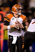 15 December 2007: Quarterback Carson Palmer of the Cincinnati Bengals passes the ball against the San Francisco 49ers during the second half of the 49ers 20-13 victory over the Bengals at Monster Park in San Francisco.