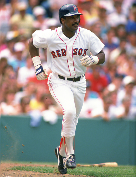 BOSTON - 1988:  Jim Rice of the Boston Red Sox bats during an MLB game at Fenway Park in Boston, Massachusetts  during the 1988 season. (Photo by Ron Vesely).  Subject:   Jim Rice