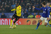 Abdoulaye Doucoure (16) of Watford on the ball during the Premier League match between Leicester City and Watford at the King Power Stadium, Leicester, England on 4 December 2019.