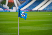 A general view of corner flag during the EFL Sky Bet Championship match between Huddersfield Town and Leeds United at the John Smiths Stadium, Huddersfield, England on 7 December 2019.