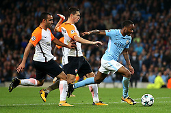 Raheem Sterling of Manchester City attacks - Mandatory by-line: Matt McNulty/JMP - 26/09/2017 - FOOTBALL - Etihad Stadium - Manchester, England - Manchester City v Shakhtar Donetsk - UEFA Champions League Group stage - Group F