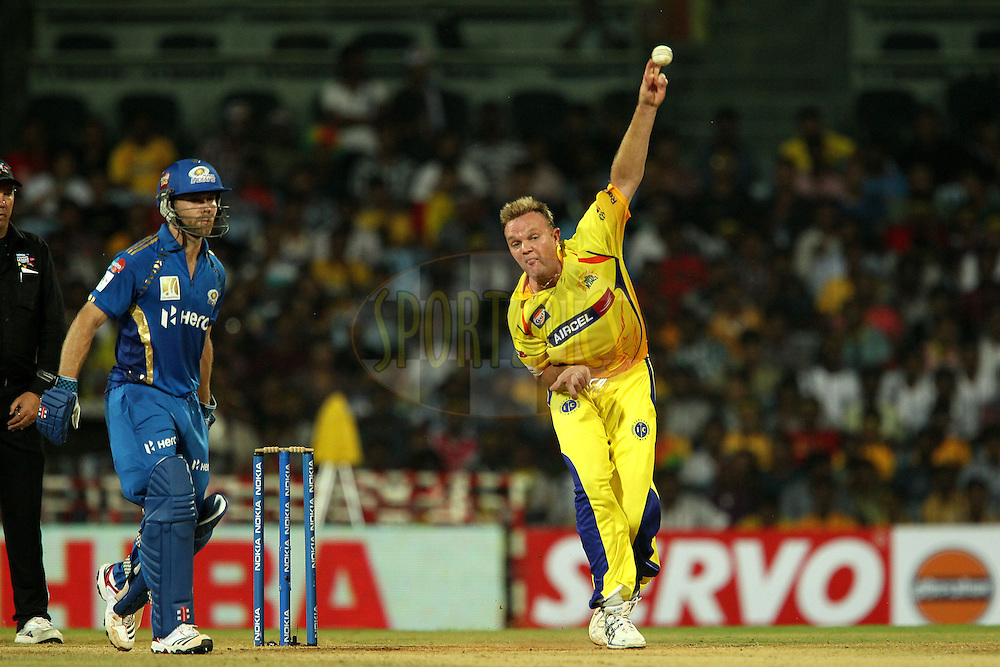 Doug Bollinger during match 3 of the NOKIA Champions League T20 ( CLT20 )between the Chennai Superkings and the Mumbai Indians held at the M. A. Chidambaram Stadium in Chennai , Tamil Nadu, India on the 24th September 2011..Photo by Ron Gaunt/BCCI/SPORTZPICS