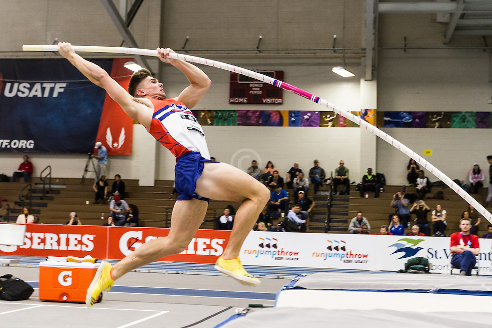 USATF Indoor Track & Field Championships: mens heptathlon pole vault, Ted Glasgow
