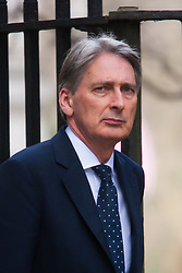 London, March 4th 2015. British Foreign Secretary Philip Hammond arrives in Downing Street ahead of a visit by President Enrique Peno Nieto of Mexico who is on a State visit.