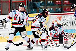 02.11.2012, Hostan Arena, Znojmo, CZE, EBEL, HC Orli Znojmo vs SAPA Fehervar, 18. Runde, im Bild Martin Planek (Znojmo #9) Marek Uram (Znojmo #79) Ondrej Kacetl (Znojmo #90) // during the Erste Bank Icehockey League 18nd round match betweeen HC Orli Znojmo and SAPA Fehervar at the Hostan Arena, Znojmo, Czech Republic on 2012/11/02. EXPA Pictures © 2012, PhotoCredit: EXPA/ Rostislav Pfeffer