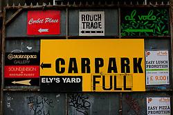 UK ENGLAND LONDON 4NOV12 - Car park full sign and street art and graffiti near Brick Lane and Shoreditch in London's trendy east end.....jre/Photo by Jiri Rezac....© Jiri Rezac 2012