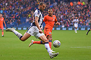West Bromwich Albion forward Jay Rodriguez (19) shoots at goal during the EFL Sky Bet Championship match between West Bromwich Albion and Millwall at The Hawthorns, West Bromwich, England on 22 September 2018.