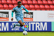 Forest Green Rovers Udoka Godwin-Malife(22) runs forward during the EFL Cup match between Charlton Athletic and Forest Green Rovers at The Valley, London, England on 13 August 2019.