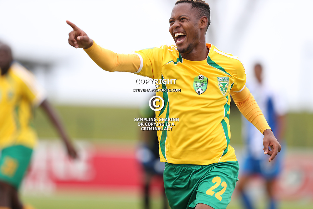 Sibusiso Sibeko of Golden Arrows during the 2017 Nedbank Cup match between Golden Arrows and Maritzburg Utd held at the Princess Magogo Stadium in Durban, South Africa on the 12th March 2017<br /> Photo by:   Steve Haag