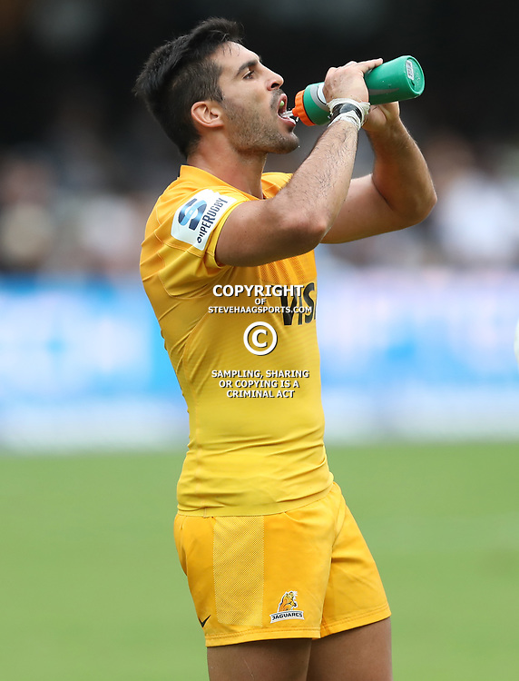 Jeronimo de la Fuente of the Jaguares during the Super Rugby match between the Cell C Sharks and the Jaguares  April 8th 2017 - at Growthpoint Kings Park,Durban South Africa Photo by (Steve Haag Sports)