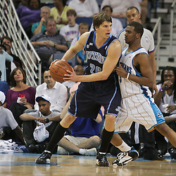 05 April 2009: Utah Jazz guard Kyle Korver (26) is guarded by New Orleans Hornets guard Chris Paul (3) during a 108-94 loss by the New Orleans Hornets to the Utah Jazz at the New Orleans Arena in New Orleans, Louisiana.