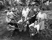 Students of the Music for Hope project.<br /> Community of Amando Lopez,<br /> Bajo Lempa, El Salvador.1999