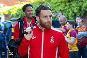 Bradford City midfielder Romain Vincelot (6) arriving at the ground during the EFL Sky Bet League 1 Play Off second leg match between Fleetwood Town and Bradford City at the Highbury Stadium, Fleetwood, England on 7 May 2017. Photo by Simon Davies.